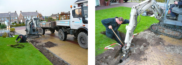 Aanleg drainage ZuidemaRioleringswerken.nl